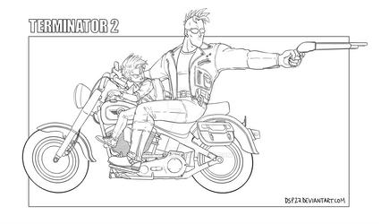 Crossover Terminator--Dragon Ball Z //Lineart