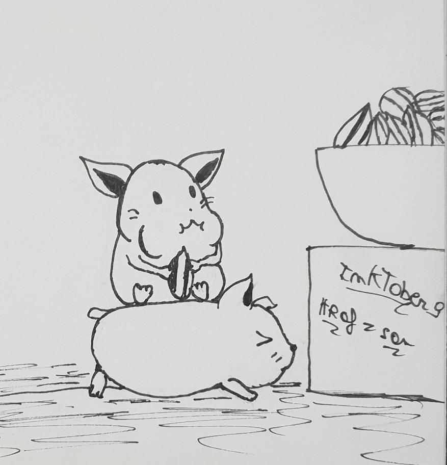 Inktober 9: Precious by Hraf-san
