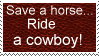 Ride a cowboy stamp by Auras