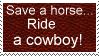 Ride a cowboy stamp by Auras