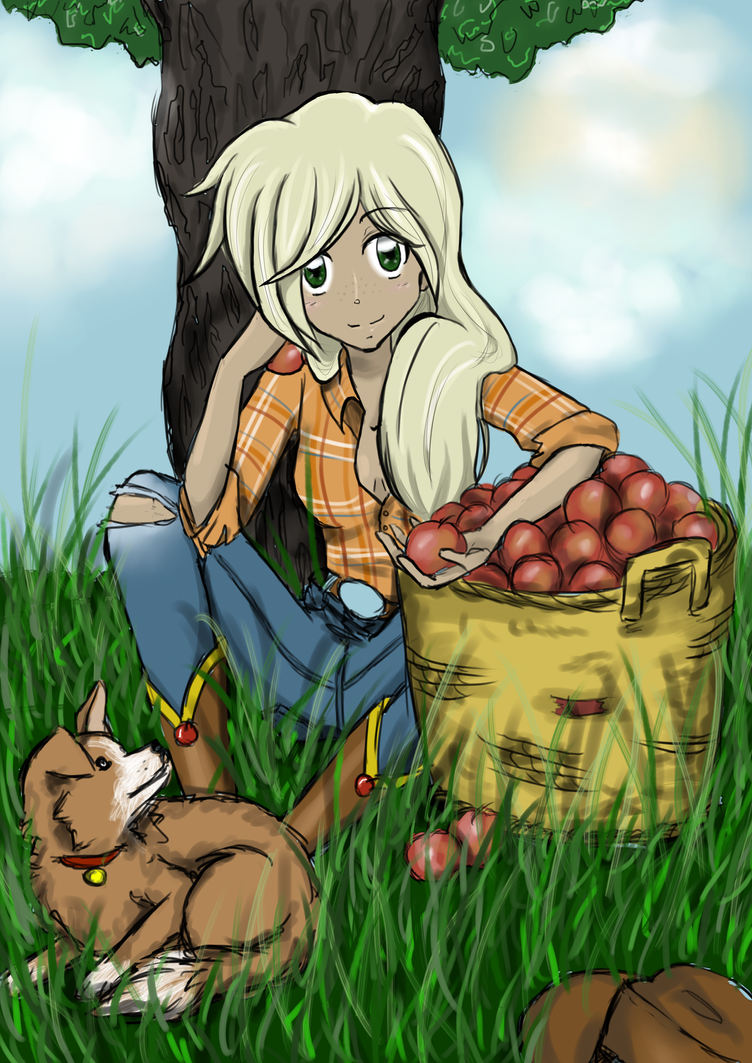 Applejack by little-red-Hamster