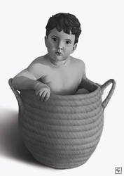 [COMMISSION] - Baby in a basket by Rom1-123