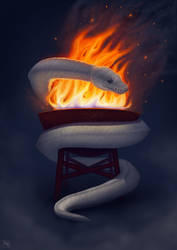 [COMMISSION] - PythonBarbecue by Rom1-123