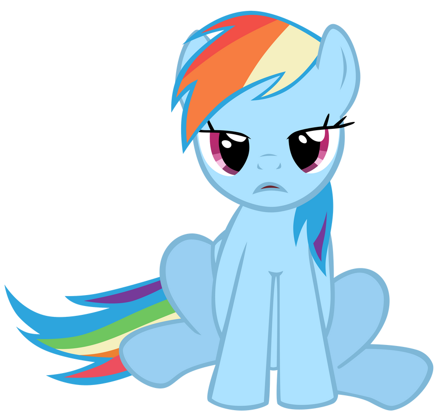 Rainbow Dash Crying Vector Images & Pictures - Becuo