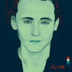 Rozzer's Palette challenge - Tom Hiddleston study by Calliope5