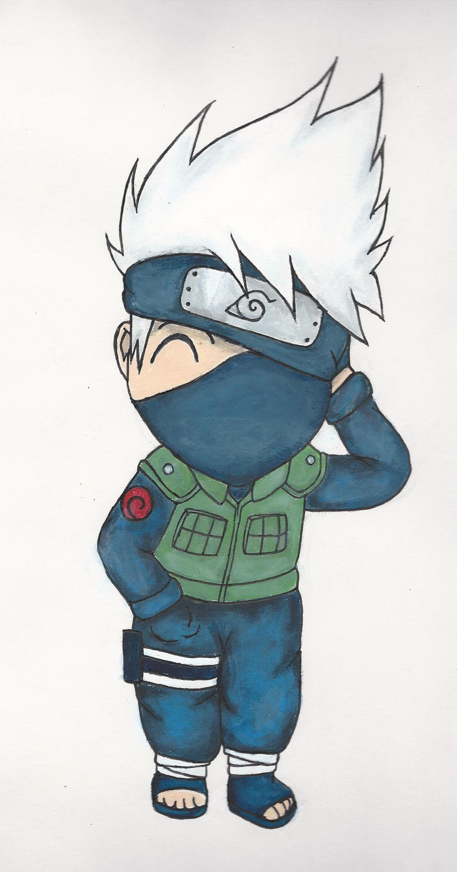 Chibi Kakashi - Colored by MusicLova4eva on DeviantArt
