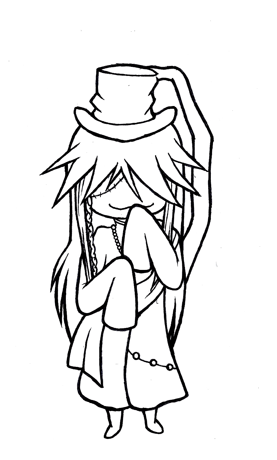 Chibi undertaker lineart by saltyfruitato on deviantart for Undertaker coloring pages