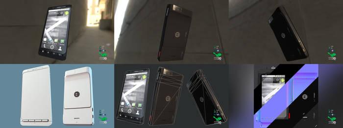 Droid X - Smartphone Prop Model