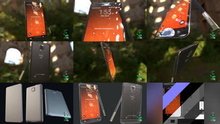 Galaxy Note 4 - Smartphone Prop Model