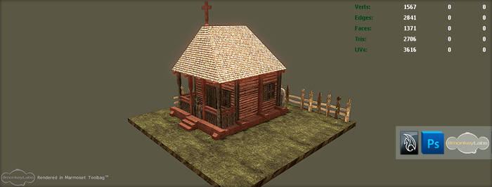 3D Wooden Church