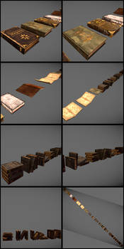 3D Props: Lots of books