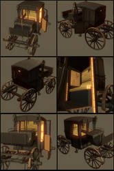 3D Victorian(Brougham) Carriage