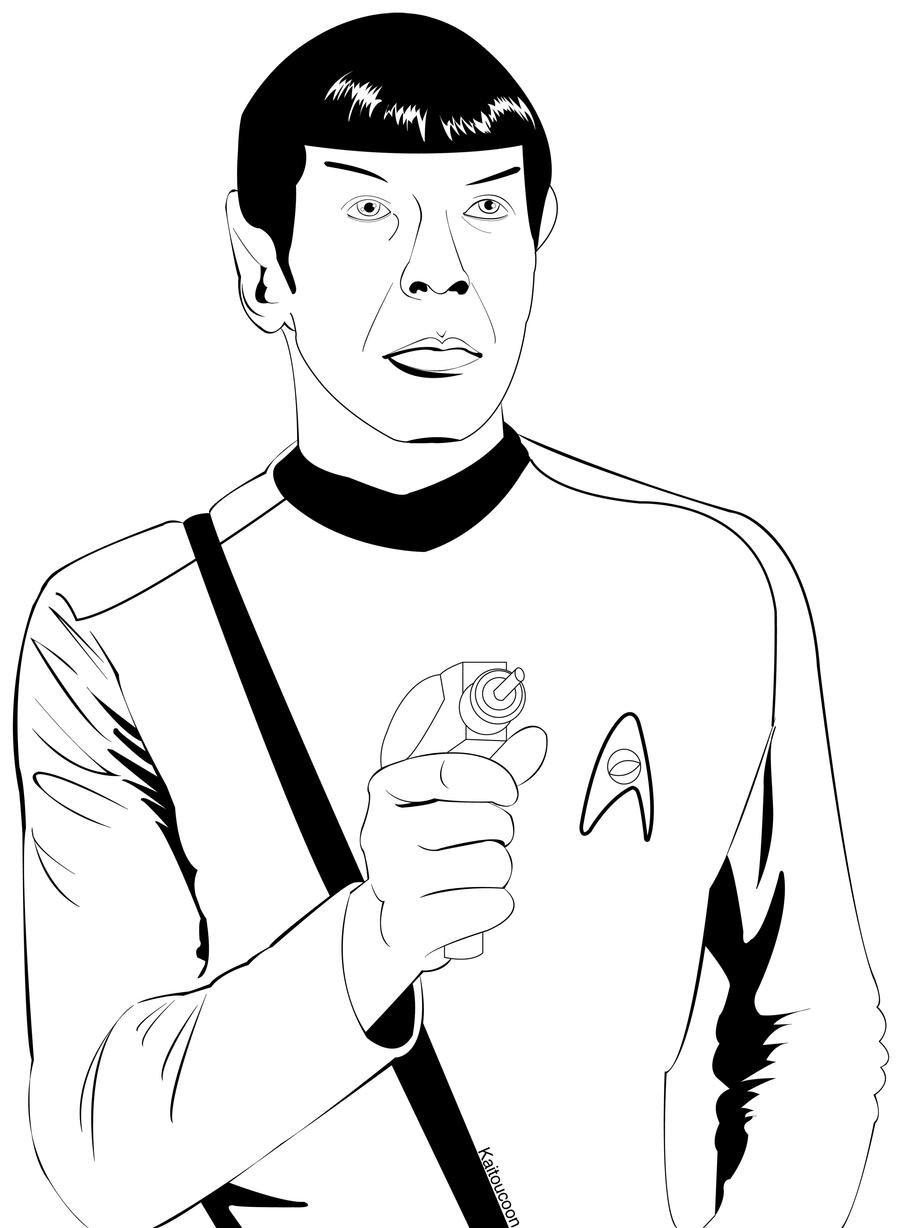 spock coloring page by kaitoucoon on deviantart