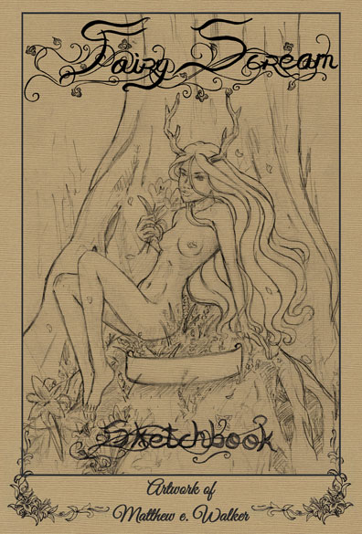 Fairy Scream Sketchbook Cover by DarkMeW