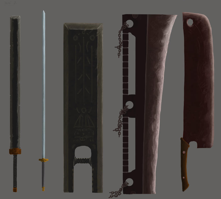 Elucidia's Armory Great_sword_set_1_by_arttraider-d5pmid4