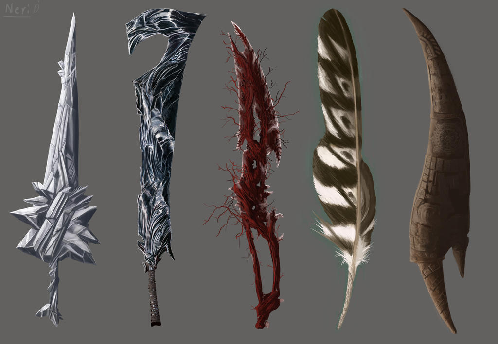 Great Sword Set 2 by ThroneSeeker