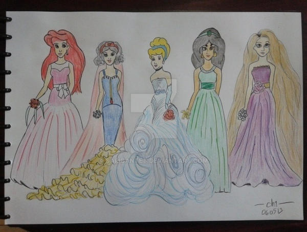 What If: Disney Princesses vs Wedding Dresses by sapibantet on ...