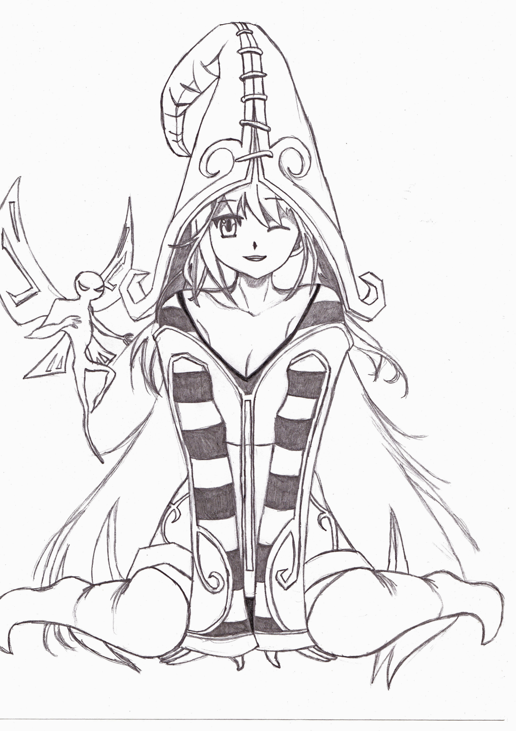 League of legends lulu sketch by ruledragon on deviantart for League of legends coloring pages