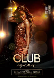 Club Night Party Free PSD Flyer Template by 99flyers