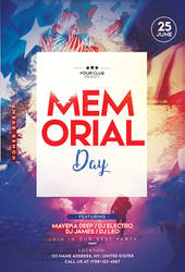 Memorial Day Free PSD Flyer Template by 99flyers