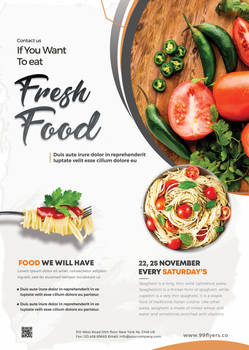Fresh Food Restaurant Free PSD Flyer Template