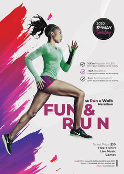 Marathon Event Flyer Free PSD Template