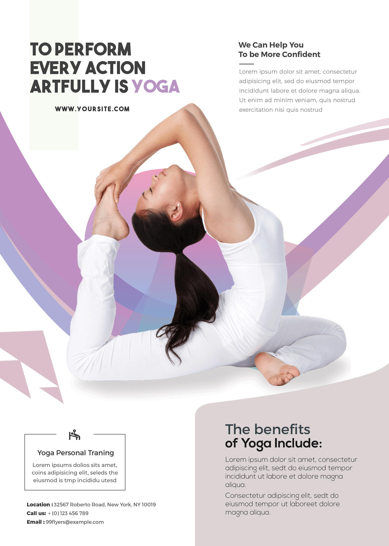 Yoga Class Free Psd Flyer Template By 99flyers On Deviantart