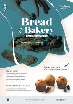 Bakery and Cupcake Flyer Free PSD Template