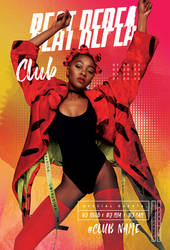 Night Club Beats Free PSD Flyer Template