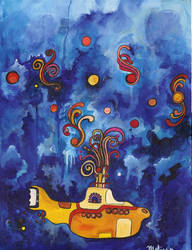Beneath the Waves, in our Yellow Submarine by melipopart