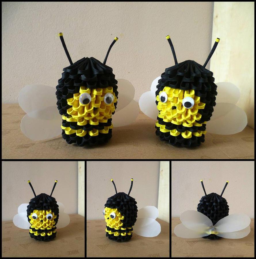 3D Origami Bees By Hellpr0phet
