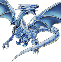 Blue-Eyes White Dragon Render by Blue-Eyes3000