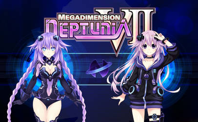 Purple Heart and Adult Neptune Wallpaper by Blue-Eyes3000