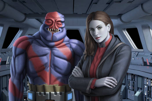 Sith inquisitor and Khem Val