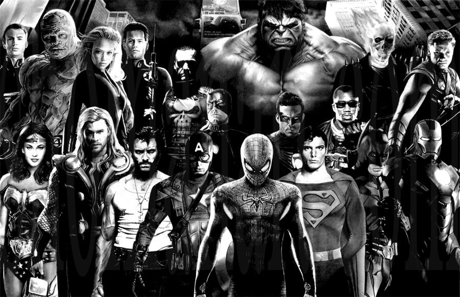 Movie Superheroes by ShomanArt