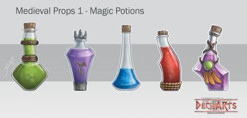 Medieval Props 1 - Magic Potions