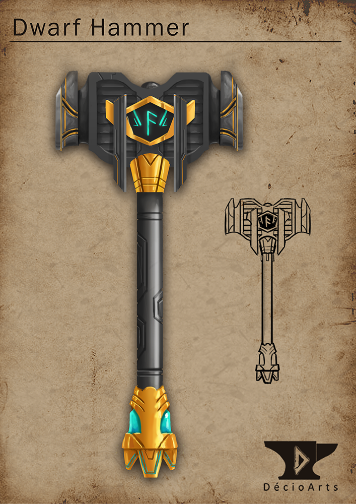 Dwarf Hammer Dwarf hammer by deciokun