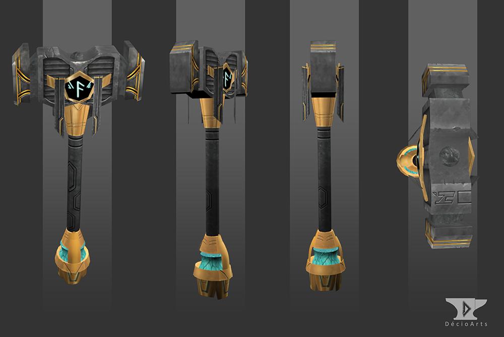 Dwarf Hammer 3D by Deciokun on DeviantArt