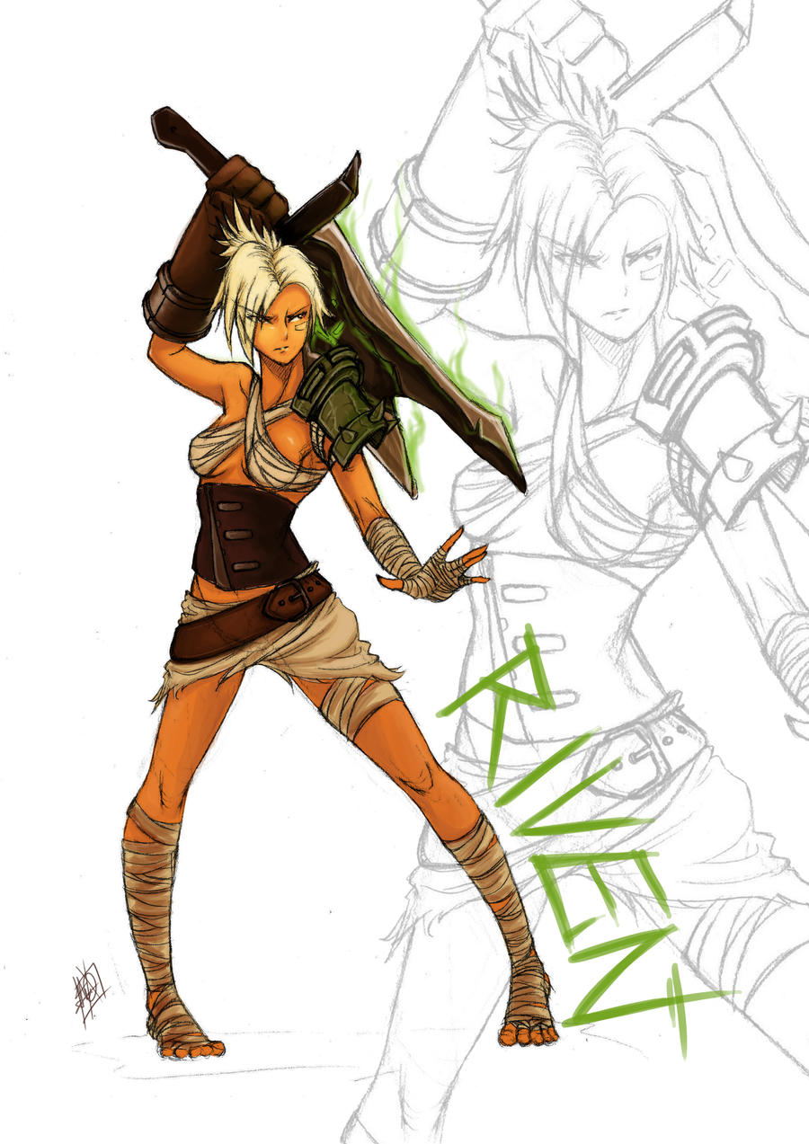 riven the exile by myth1c fan art digital art painting airbrushing ...Bunny Riven Fan Art