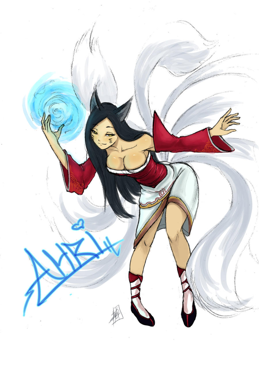 Ahri, The Nine-Tailed Fox by MyTh1C