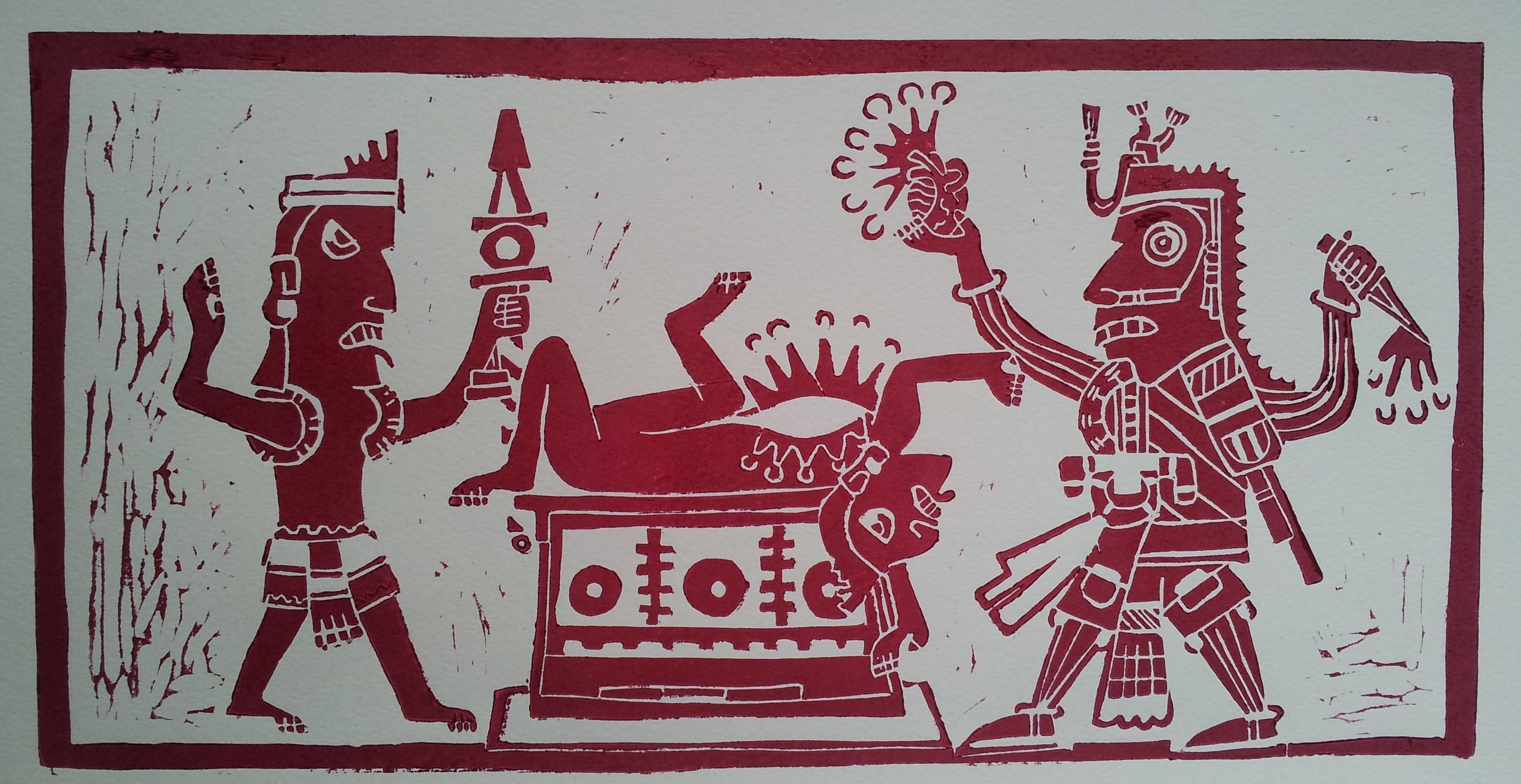 Aztec sacrifice girl exploited image