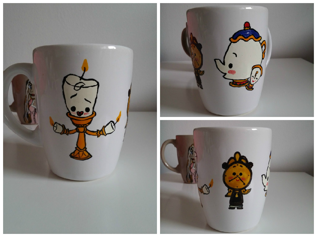 Cute Beauty and the Beast mug by maja135able