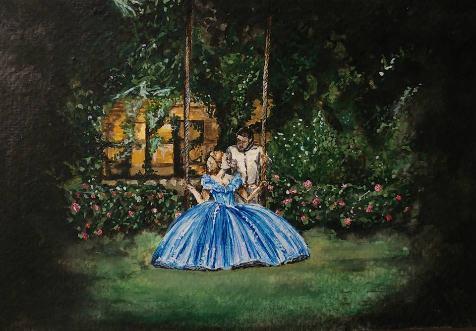 Cinderella Watercolour Painting - A6 by maja135able