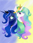 Two Royal Sisters: Celestia and Luna