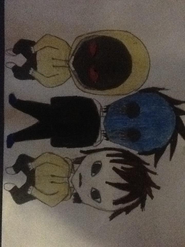 Masky, Hoodie, and Eyeless Jack Chibi by FeatherstonWatrs ...