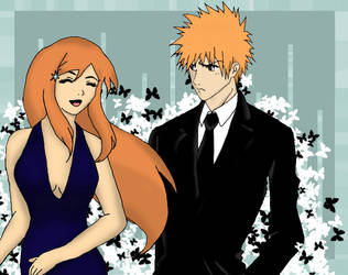 Ichigo and Orihime by bleach-party