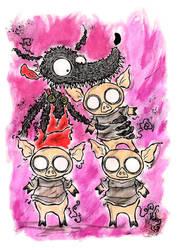 Les trois petits cochons by DV-Venom