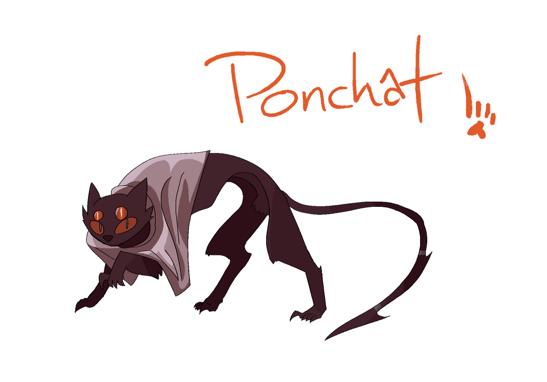 Ponchat - fakemon by skelfish