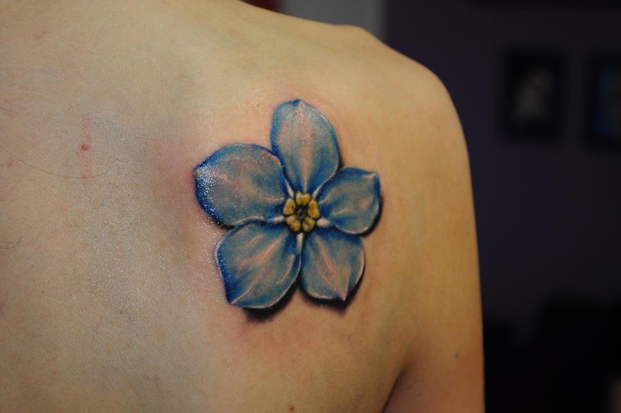 Blue flower tattoo pics free