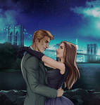 [commissions] Marvel/OC: Steve Rogers and Helena by Quincy-Sue